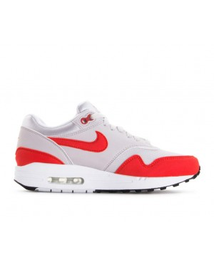 319986-035 Nike Femme Air Max 1 Chaussures - Grise/Rouge