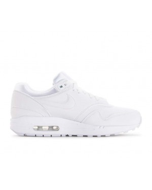 319986-108 Nike Femme Air Max 1 Chaussures - Blanche/Blanche-Pure Platinum