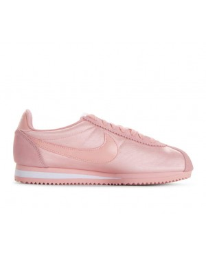 749864-606 Nike Femme Classic Cortez Nylon - Coral Stardust/Coral Stardust/Blanche
