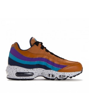 538416-800 Nike Air Max 95 Premium - Monarch/Bleu-Navy-Hyper Grape